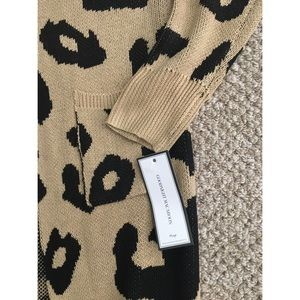 Goodnight Macaroon Sweaters - GOODNIGHT MACAROON REILLY LEOPARD CARDIGAN